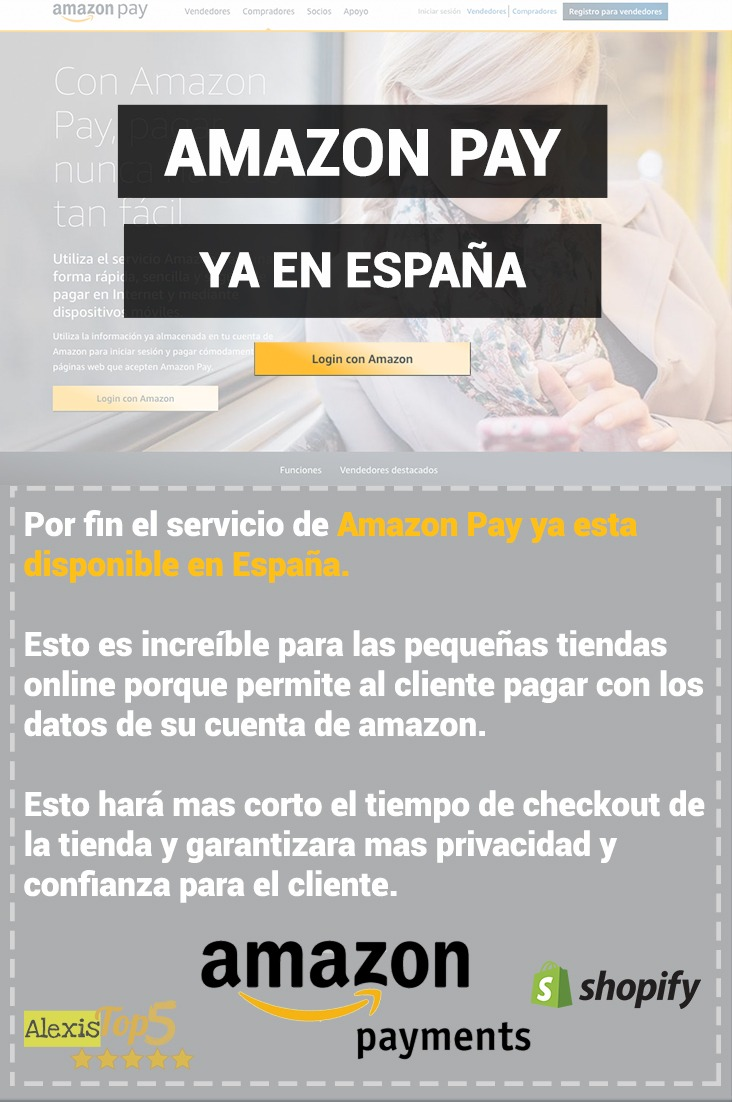 Amazon Pay ya disponible en España. Alexistop5