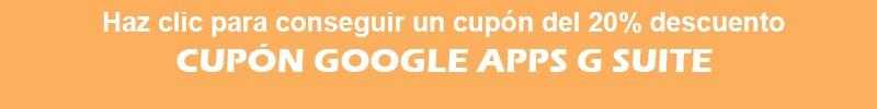 Cupón Google apps G-Suite