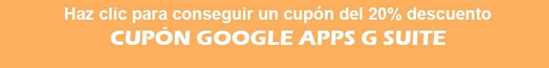 Cupón Google apps G-Suite